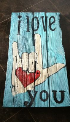 Sign language love sign