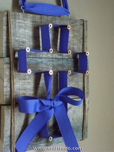 cross craft- I would do it with burlap ribbon