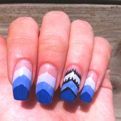 My nails - purple inverted gradient chevron