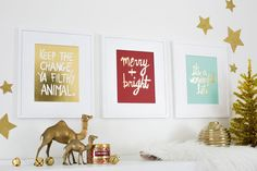 Holiday Print Set! Available at shop.abeautifulmess.com