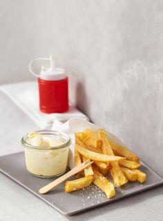 Belgische Fritten mit selbstgemachter Mayonnaise