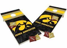 Iowa Hawkeyes Tailgate Toss XL Shields Edition Cornhole Board & Bean Bag Set