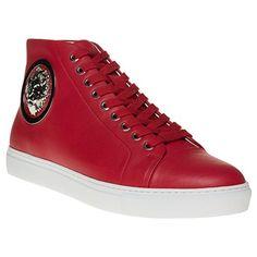 Versus Lion Hi-Top Herren Sneaker Rot