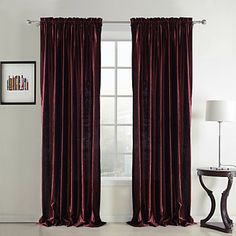 (Two Panels) Classic Velvet Solid Lined Curtain  – AUD $ 72.77