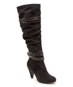 Look what I found on #zulily! Black Buckle Method Boot by Qupid #zulilyfinds