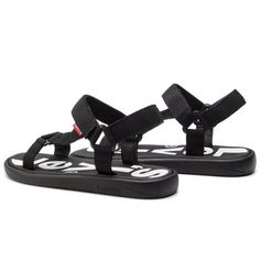 Sandale LEVI'S - 229847-752-59 Regular Black - Sandale - Saboți și sandale - Bărbați - www.epantofi.ro Furla, Levis, Tommy Hilfiger, Calvin Klein, Shoes, Black, Fashion, Sandals, Moda