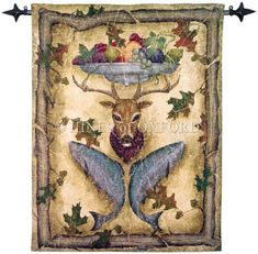 Highland Lodge - Fine Woven Tapestry Wallhanging Fine Woven Tapestry Wallhanging adds a focal centerpiece to any room The Country Collection of Fine