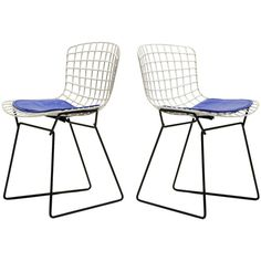 Pair of Bertoia child's chairs by Knoll | From a unique collection of antique and modern chairs at http://www.1stdibs.com/furniture/seating/chairs/