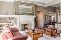 Trey Ceilings, built in shelving & a toasty fireplace <3 MLS: 16012119