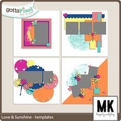 Love & Sunshine Templates :: Gotta Pixel Digital Scrapbook Store by Mandy King $4.00