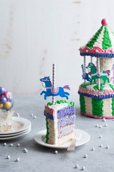 DIY Carousel Cake Tutorial and Recipe