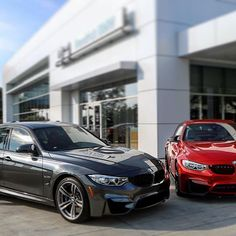M3 or M4? No waiting lists here! Come check out these two beauties we have in stock  and ready to sell  #hendrick #hendrickbmw #bmwusa #bmw #M #bmwM #M3 #M4 #bimmerlife #bmwm3 #bmwm4 #bmwlove #mthemostpowerfulletterintheworld