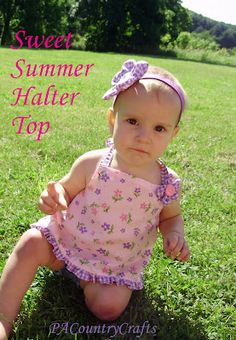 Fireflies and Jellybeans: SIY: Kids Clothes- Cute Halter top with Lindsay {PA Country Crafts}