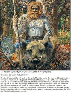 Tha, Mezitha, Forest God of Circassian mythology