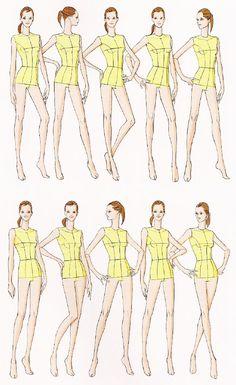 Модельные позы для фэшн-эскизов | web-paint.ru Fashion Sketch Template, Fashion Figure Templates, Fashion Design Template, Fashion Design Sketchbook, Fashion Design Drawings, Fashion Sketches, Fashion Figure Drawing, Fashion Model Drawing, Fashion Illustration Poses