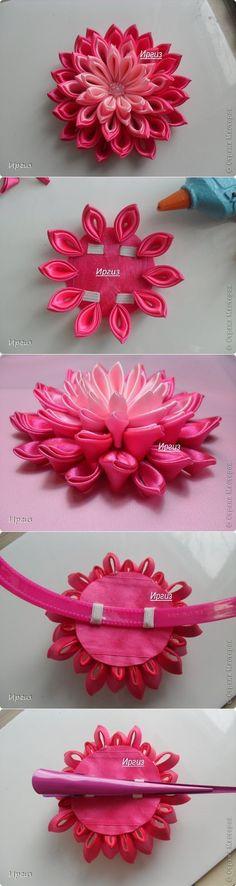 МК многослойки и универсального крепления. | Страна Мастеров #ribbonflower