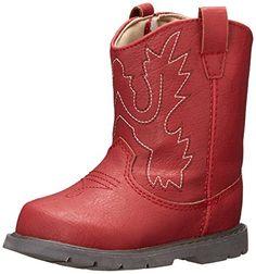 Baby Deer Western Boot (Infant/Toddler),Red,6 M US Toddler