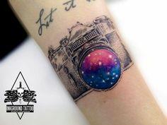 #inked #camera #galaxy #photography #tattoo #tatuagem #alineymarques