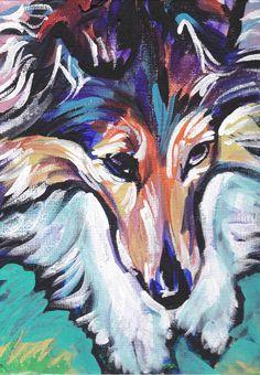 Shetland Sheepdog Sheltie art print dog pop art by BentNotBroken