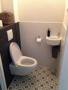 Small bathroom Tiny bathroom ideas is part of Small toilet room - Small Toilet Room, Guest Toilet, Downstairs Toilet, Bathroom Design Small, Bathroom Colors, Modern Bathroom, Bathroom Ideas, Bathroom Inspo, Bathroom Renovations