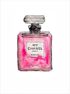 Imagens para quadrinhos - poster para imprimir - perfume chanel - rosa -Blog Dikas e diy