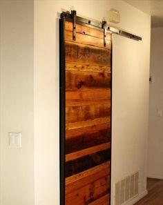 Barn Inspired Sliding Door Made From Pallets