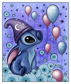 """When you wish upon a star, Makes no difference who you are, Anything your heart desires, Will come to you..."" written by 'Leigh Harline & Ned Washington'  [*Stitch* from Disney movie ""Lilo & Stitch"" (2002)]~[Artistic work by *Ventapane on deviantART 2012]  'h4d'120902"