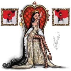 Queen BadGalRiRi 👑 illustration 🎈🎈🎈Hope you all like it! Fashion Model Sketch, Fashion Sketches, Art Sketches, Art Drawings, Fashion Illustration Hair, Illustration Art, Bilal Hassani, Dibujos Tumblr A Color, Arte Fashion