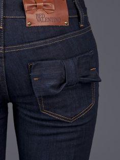 Blue Bow Pocket Jeans
