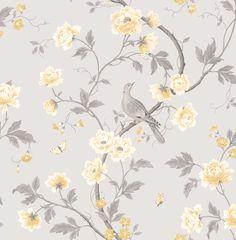 Colours Dorthea Soft Grey Floral Mica Effect Wallpaper   Departments   DIY at B&Q