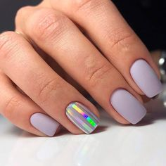 Exquisite Pastel Color Nails To Freshen Up Your Look: Sweet Pale Lilac Nails #pastel; #nails; #nailart