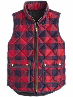 SHEIN offers Pockets Plaid Quilted Vest   more to fit your fashionable  needs. 2d0af09659d6