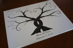 Wedding Thumbprint Trees Alternative Guest Book SALE