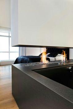 fireplace & bath