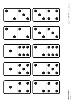 29 images des dominos des chiffres de 1 à 6 ainsi qu'une planche à imprimer pour fabriquer le jeu. Phonics Song, Alphabet Phonics, Learning Centers, Math Centers, Kids Learning Alphabet, Preschool Writing, Math Numbers, Math Games, Maths