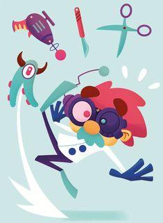 Panique au Labo | alxfactory.com Illustrations, Kids Rugs, Decor, Tabletop Games, Decoration, Kid Friendly Rugs, Illustration, Decorating, Nursery Rugs