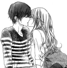 When you are looking for something all your life and although in your mind it is the clearest thing in the world, you cannot achieve it in reality amor boy dark manga mujer fondos de pantalla hot kawaii Couple Anime Manga, Anime Couple Kiss, Cute Anime Couples, Manga Anime, Anime Couples Hugging, Anime Couples Cuddling, Anime Girls, Anime Bisou, Manga Romance