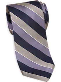 Esquire Purple & Navy Stripe Narrow Tie