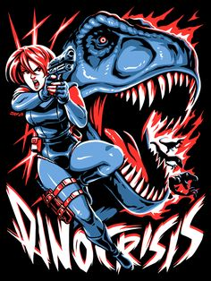 First official Capcom product! I gotta give arvalis a HUGE shoutout on this one for guiding me during the process of really understanding how to draw a . Dino Crisis - You're Extinct Dinosaur Hunter, Dinosaur Age, Dino Crisis, Retro Videos, Keys Art, Memes, Comic Games, Love Drawings, Female Characters