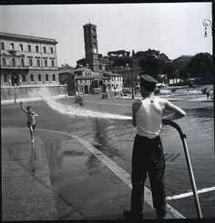 Roma Sparita - Piazza della Bocca della Verità   1957 Vintage Italian, Rome, Street View, History, City, World, Mamma, Antique, Places