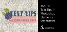 Top 10 Text Tips in Photoshop Elements
