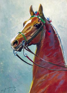 "Equine Art: ""Head of a Five Gaited Champion"" by George Ford Morris Horse Photos, Horse Pictures, Art Pictures, American Saddlebred, Most Beautiful Horses, All The Pretty Horses, Horse Art, Horse Head, Appaloosa Horses"