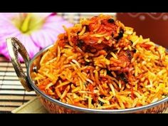 Indian Street Food - Chicken Biryani Prepared for 100 People