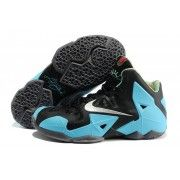 Cheap Lebron 11 Black Sky Blue Grey $107.90  http://www.blackonshoes.com/