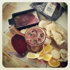 Antibiotic Juice from Lana Purcell! Give your immune system a boost with this great juice - get the best of the nutrients with the Kuvings Cold Press Juicer available from Shop Naturally http://www.shopnaturally.com.au/kuvings-silent-cold-press-juicer.html
