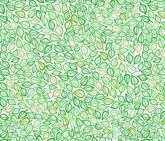 Green Leaves fabric by annaliesbabyboutique on Spoonflower - custom fabric