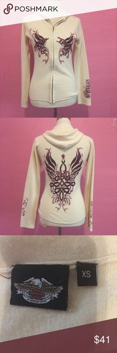 Harley Davidson hoodie sweater cardigan xs Harley Davidson hoodie sweater cardigan xs Harley-Davidson Sweaters