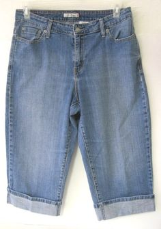 Levi's Capri 515 Jeans Blue Women Size 16 Denim Crop Pants No.515 #Levis #CapriCropped