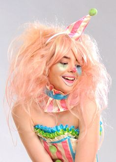 Womens Deluxe Candy Floss Pink Clown Wig DOES NOT INCLUDE HAT | eBay