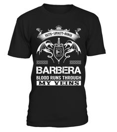 BARBERA Blood Runs Through My Veins  barber shirt, barber mug, barber gifts, barber quotes funny #barber #hoodie #ideas #image #photo #shirt #tshirt #sweatshirt #tee #gift #perfectgift #birthday #Christmas